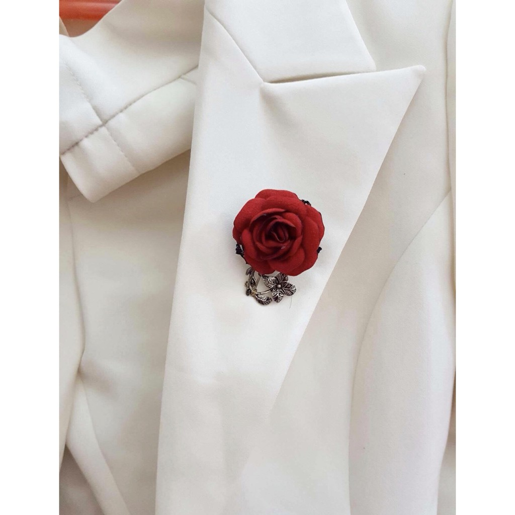 Nơ cài áo hoa hồng handmade - 2762452 , 953239789 , 322_953239789 , 150000 , No-cai-ao-hoa-hong-handmade-322_953239789 , shopee.vn , Nơ cài áo hoa hồng handmade