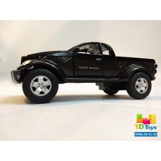 Xe mô hình 1:36 Dodge Power Wagon Đen – Kinsmart
