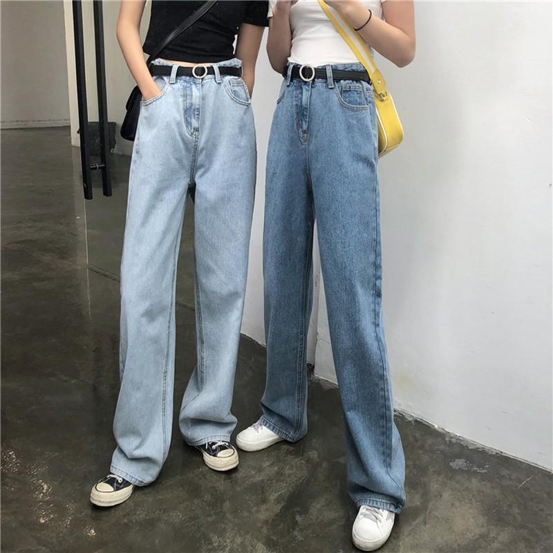 Quần jeans dài lưng cao ống rộng thời trang cho nữ - 22202926 , 2846628231 , 322_2846628231 , 357544 , Quan-jeans-dai-lung-cao-ong-rong-thoi-trang-cho-nu-322_2846628231 , shopee.vn , Quần jeans dài lưng cao ống rộng thời trang cho nữ