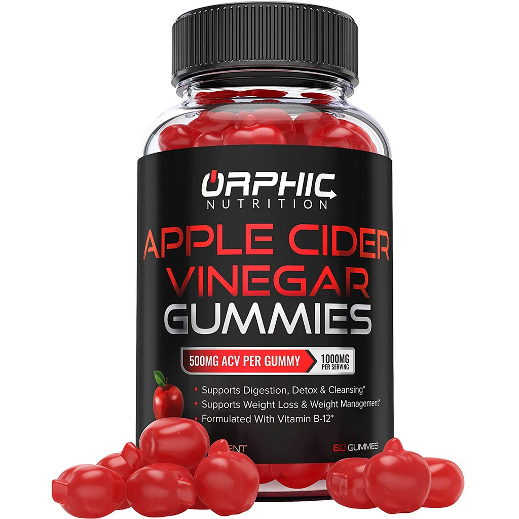Apple Cider Vinegar Gummies - 1000mg - Formulated for Weight Loss, Energy Boost & Gut Health 60v