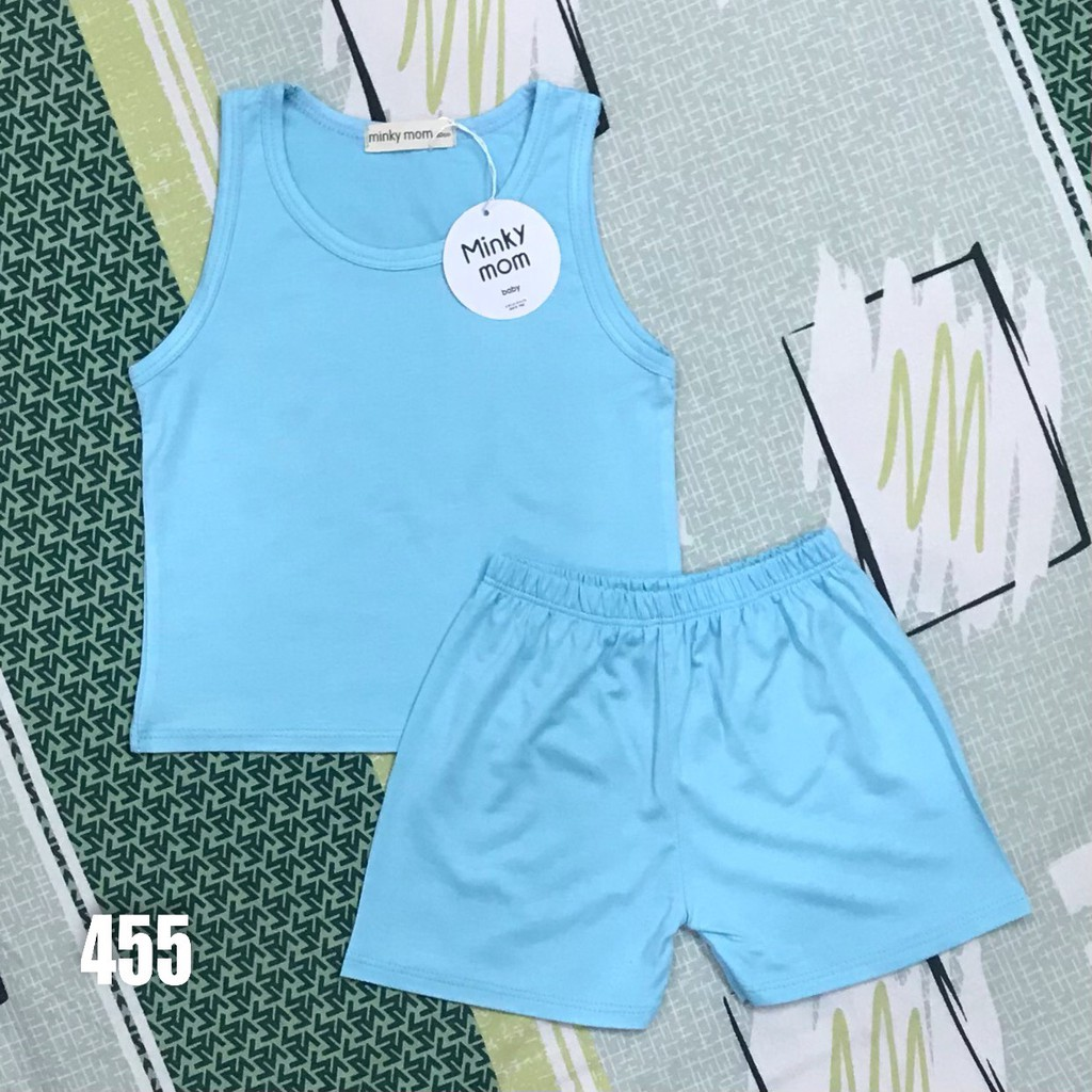 Bộ Ba Lỗ Minky Mom Có Size To Đến 32KG Cho Bé Trai_Bé Gái, Thun Lạnh LOẠI TỐT, Vải Mềm-Mịn-Mát-Thấm Hút Mồ Hôi Cực Tốt.