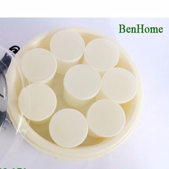 máy làm sữa chua Benhome 8 cốc nhựa hàng xịn