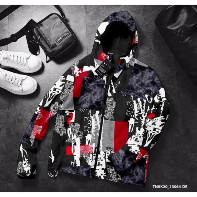 Áo khoác dù 2 lớp đen UTS thời trang