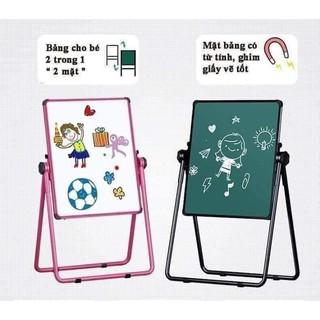 Bảng học giá vẽ 2 mặt xoay 360 kèm quà tặng cho bé. BẢNG EDU 2 MẶT