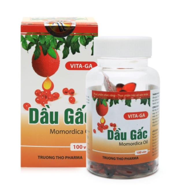 Thực phẩm chức năng dầu gấc viên nang Vita-Ga 100 viên