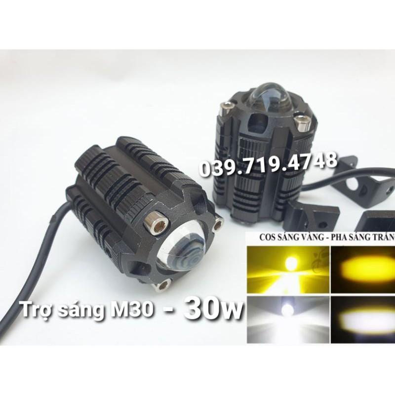 Đèn trợ sáng M30 Cos vàng - Pha trắng 30w