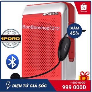 [PHÂN PHỐI CHÍNH HÃNG] - Bộ máy trợ giảng Aporo T18 2.4G bluetooth 5.0 (tặng mic có dây) thumbnail