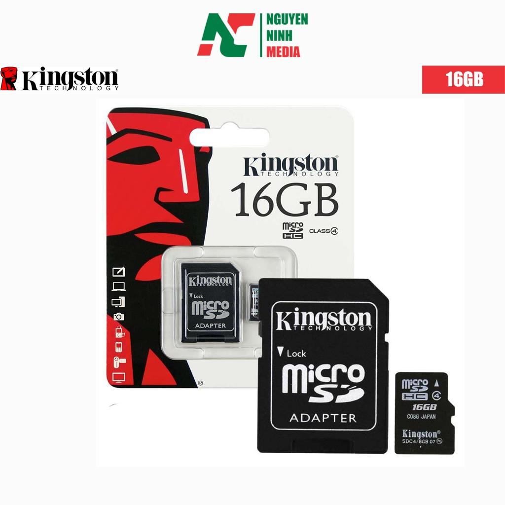 Thẻ nhớ Micro SD Kingston 16G chính hãng bảo hành 5 năm
