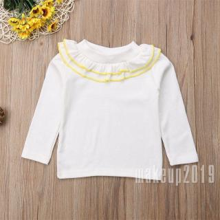 Mu♫-New Princess Cute Toddler Kids Baby Girls Lace Casual Long Sleeve T-shirt Tee Tops Blouse Clothes