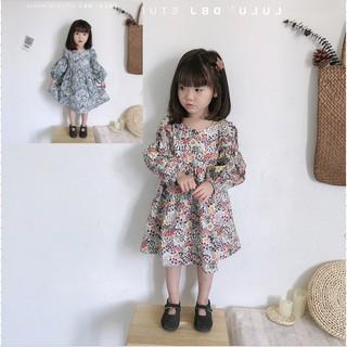 Váy bé gái tay dài váy hoa công chúa váy mùa xuân và mùa thu quần áo trẻ em mới 3-8 tuổi