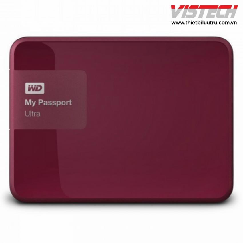 Ổ cứng di động WD My Passport Ultra 500GB (Đỏ)