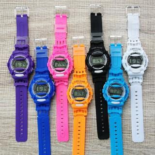 DH Đồng hồ điện tử trẻ em giới tính TIME CLUE dây cao su cực đẹp 8 YC1