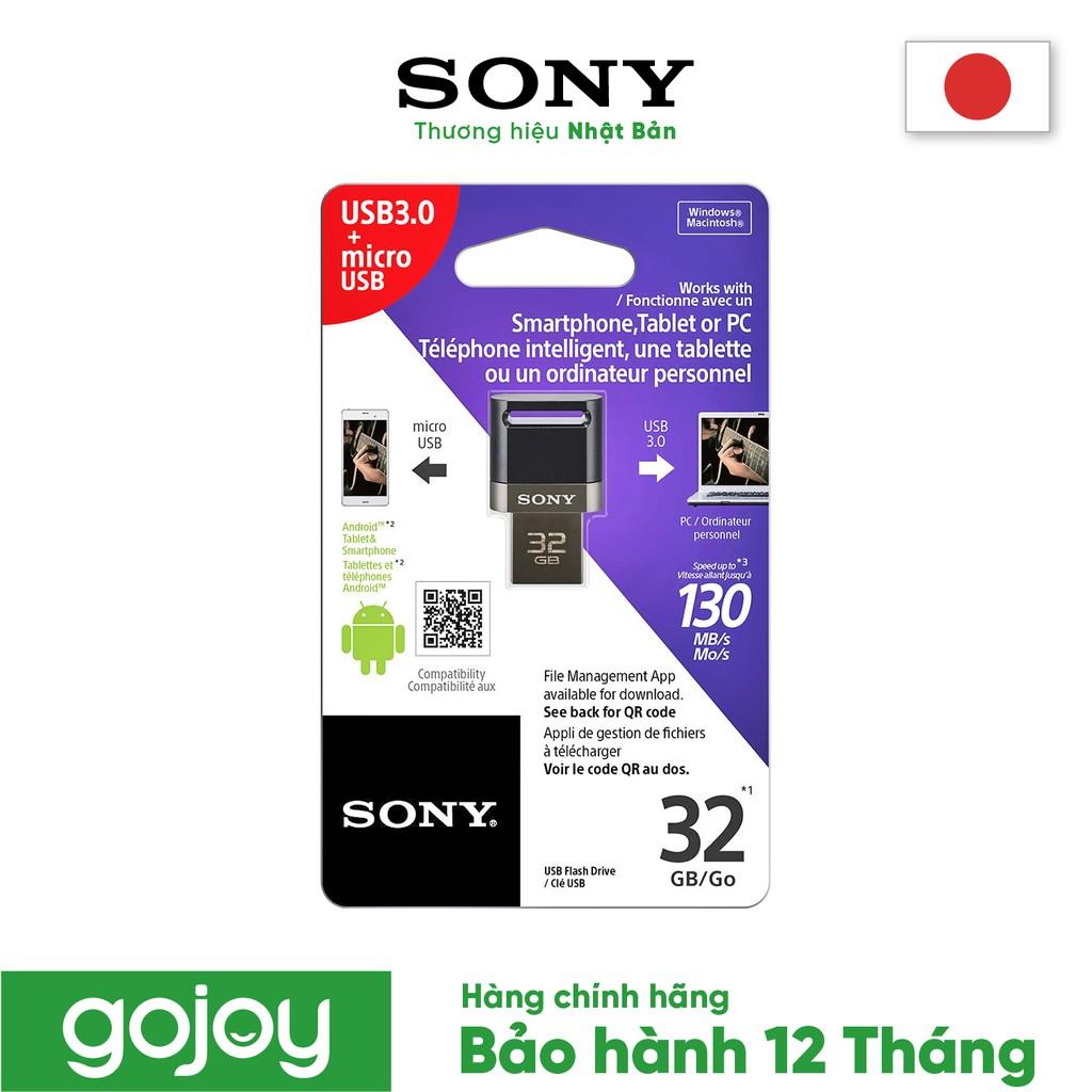 Mã ELMALL300 giảm 7% đơn 500K] Thẻ nhớ USB SONY 32GB USM32SA3/B2 E chính  hãng - Hàng phân phối bảo hành 12 tháng - USB Nhãn hiệu Sony