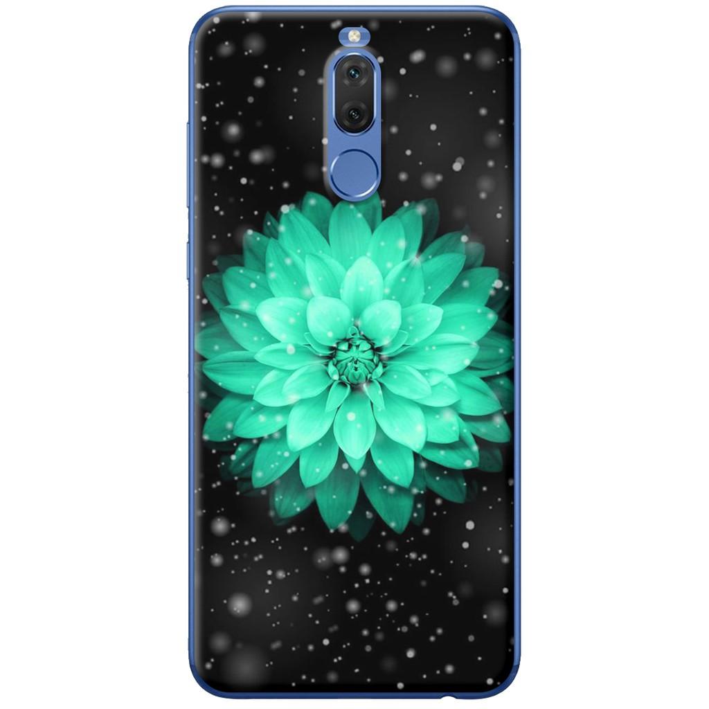 Ốp lưng nhựa dẻo Huawei Nova 2i Hoa cúc xanh lá
