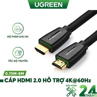 Cáp HDMI 2.0 hỗ trợ 3D, 4K độ dài từ 0.75-8m UGREEN HD118