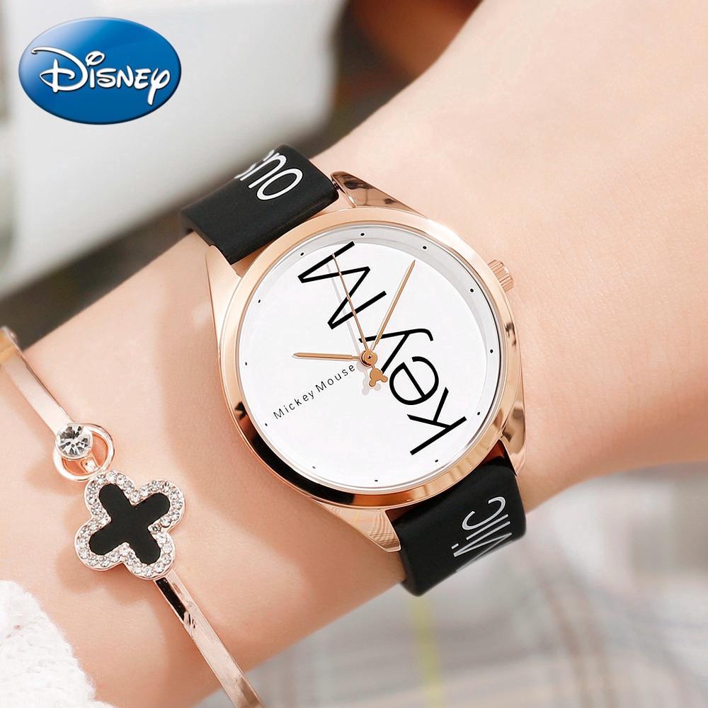Disney Cutie Girl Quartz Waterproof Wrist Watches Children Cartoon Lovely Students Mickey Watch Clock Gift