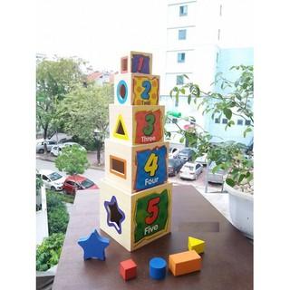 Đồ chơi gỗ – Hộp xếp chồng thả hình khối Vivitoys