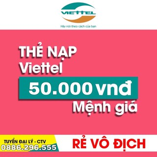 Thẻ cào Viettel 50k