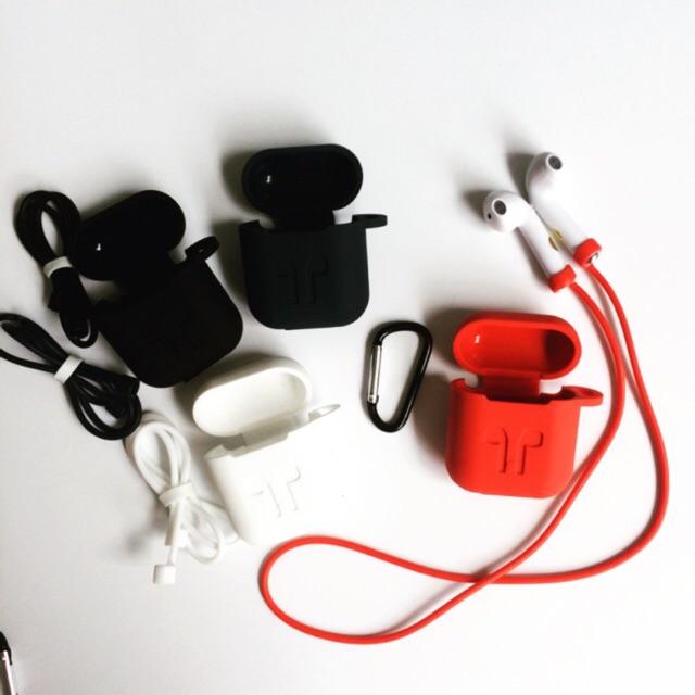 Bộ phụ kiện chống rớt Airpods gồm hộp silicon đựng có móc khoá và dây silicon nối tai nghe quàng cổ - 2837349 , 1113110957 , 322_1113110957 , 69000 , Bo-phu-kien-chong-rot-Airpods-gom-hop-silicon-dung-co-moc-khoa-va-day-silicon-noi-tai-nghe-quang-co-322_1113110957 , shopee.vn , Bộ phụ kiện chống rớt Airpods gồm hộp silicon đựng có móc khoá và dây sil