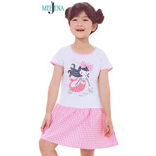 Váy Bé Gái Tay Ngắn Tùng Xòe Phối Kate Caro 14-26 kg MEEJENA - 1486