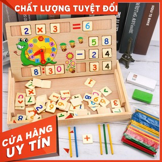 [Siêu Rẻ] Bảng gỗ toán học thông minh phát triển trí tuệ cho bé