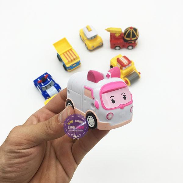 Đồ chơi xe ôtô Robocar Poli xe hơi chạy trớn hộp 8 xe