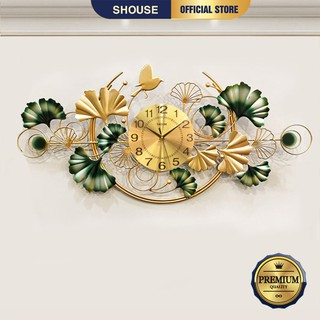 Đồng Hồ Treo Tường  trang trí Decor Shouse DC132 quartz phù hợp cho phòng khách cỡ lớn hiện đại