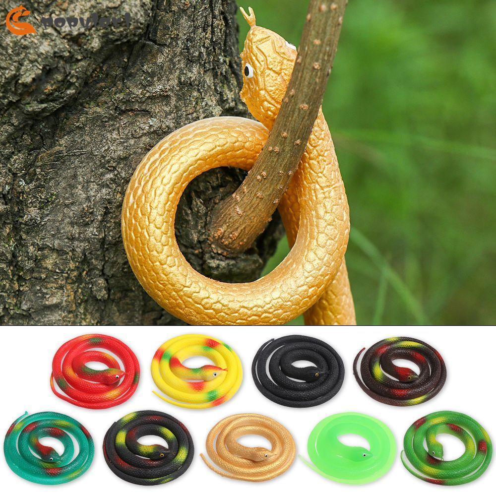 POPULAR🍊 80cm Funny Halloween Prank Prop Plastic Novelty & Gag High Simulation Animals Kids Favors Scary Hot Joke Toys Rubber Snake/Multicolor