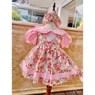 Váy trẻ em💕FREESHIP+TẶNG TURBAN💕váy bé gái mùa hè, váy cho bé, với dáng váy xòe chữ A chất đẹp, chất thô rất xịn