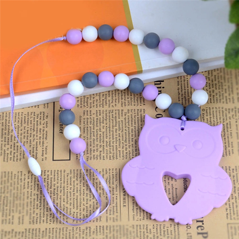 Baby Chew Silicone Beads Teething Necklace Nursing Jewelry Pendant Necklace