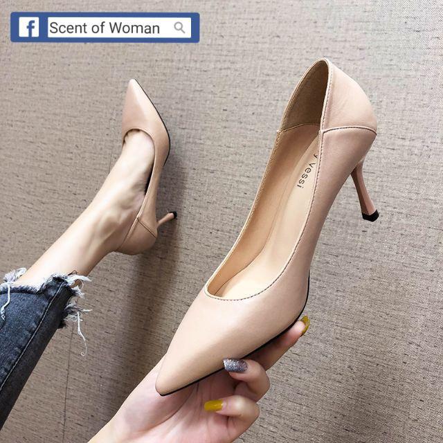 Giày cao gót thanh lịch mũi nhọn cao 7cm/5cm