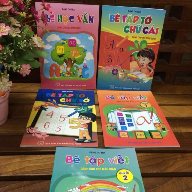 Combo 5 cuốn bé học vần và bé tập viết dành cho trẻ mẫu giáo