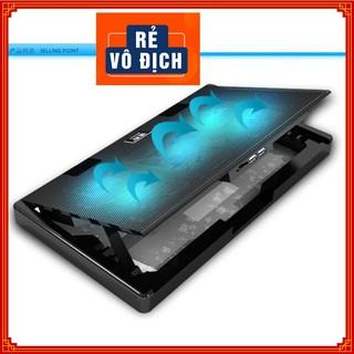 Đế Tản Nhiệt Máy Tính Laptop Macbook Cao Cấp Có Màn Hình Điều Khiển 6 Cấp Độ Gió, Thiết Kế Chuẩn Gaming. thumbnail