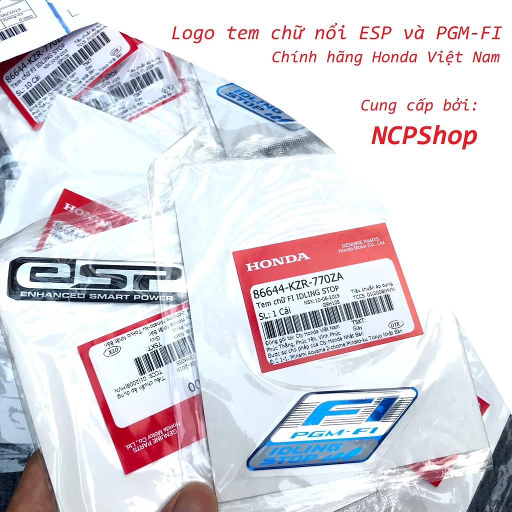 Decal tem nổi FI và ESP chính hãng