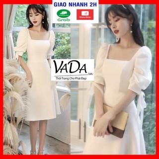 Đầm cổ vuông xòe tay phồng dự tiệc cao cấp xinh yêu - Thời Trang VADA - V11 thumbnail