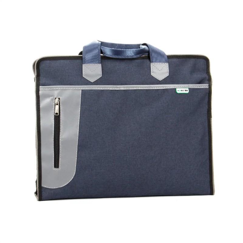 กระเป๋าเอกสารแบบพกพา A4 เครื่องใช้สำนักงานถุงซิปข้อมูลสุภาพสตรีกระเป๋าผ้าใบกระเป