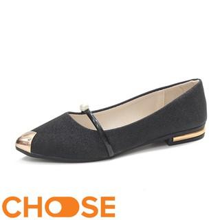 Giày Nữ Búp Bê Choose Gót Vuông Kim Tuyến Mũi Nhọn Thời Trang G1501 thumbnail