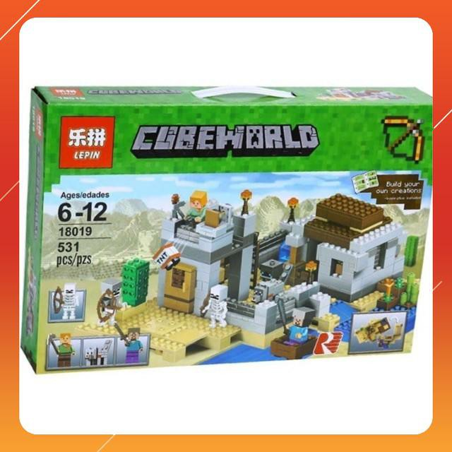 [Siêu Sock] Bộ lego my world minecraft 531 chi tiết
