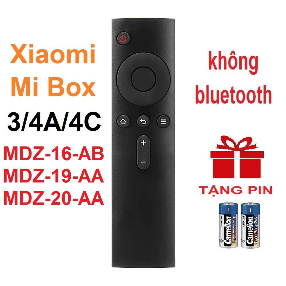 Remote điều khiển Xiaomi Mi BOX 3 4A 4C MDZ-16-AB MDZ-19-AA MDZ-20-AA (KHÔNG MICRO - Tặng pin)