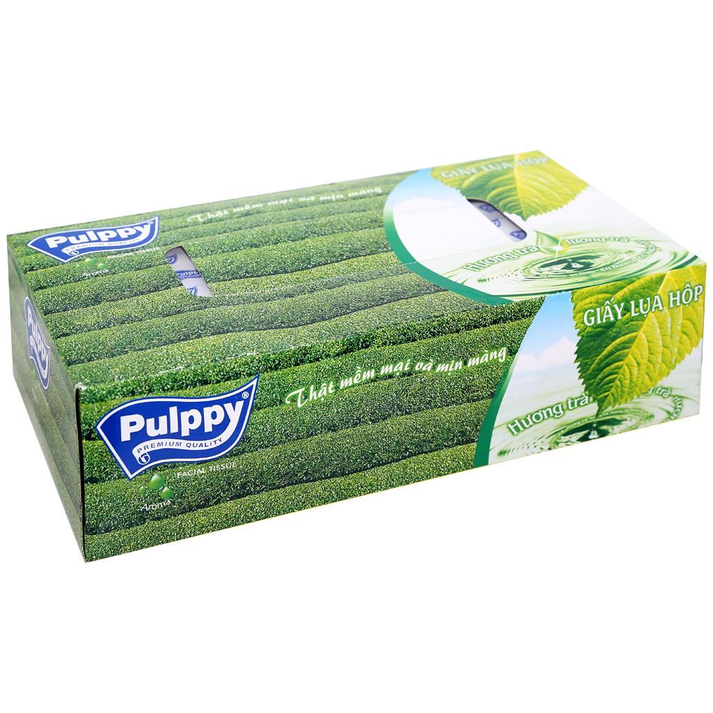 [Mã 267FMCGSALE giảm 8% đơn 500K] Giấy ăn hộp giấy Pulppy