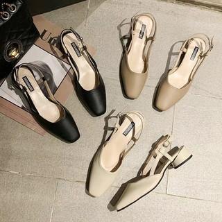 Sandal Cao Gót Nữ Da Mềm 6558