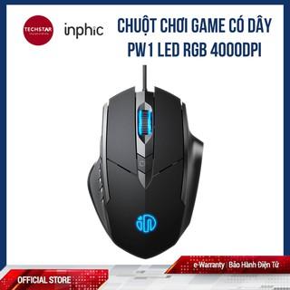 Chuột chơi Game có dây PW1 Led RGB 4000DPI