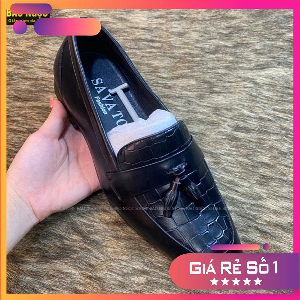Giày tây nam da bò cao cấp - Giày lười nam công sở thời trang - Da bò loại 1 - Bảo hành nổ da 24 tháng - Mã L6989