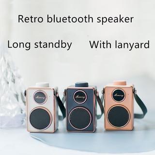 Loa Bluetooth Không Dây Phong Cách Retro Kèm Phụ Kiện