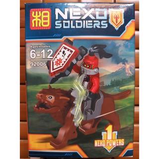 Đồ chơi lắp ráp lego minifigures nhân vật mô hình nexo knights quỷ đỏ và sói Lezi 92006 lẻ.