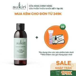 Nước Cân Bằng Se Khít Lỗ Chân Lông Sukin Blemish Control Pore Perfecting Toner 125ml