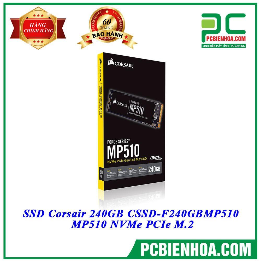 [Mã ELMS05 giảm 5% đơn 300k]Ổ cứng SSD Corsair 240GB CSSD-F240GBMP510 MP510 NVMe PCIe M.2