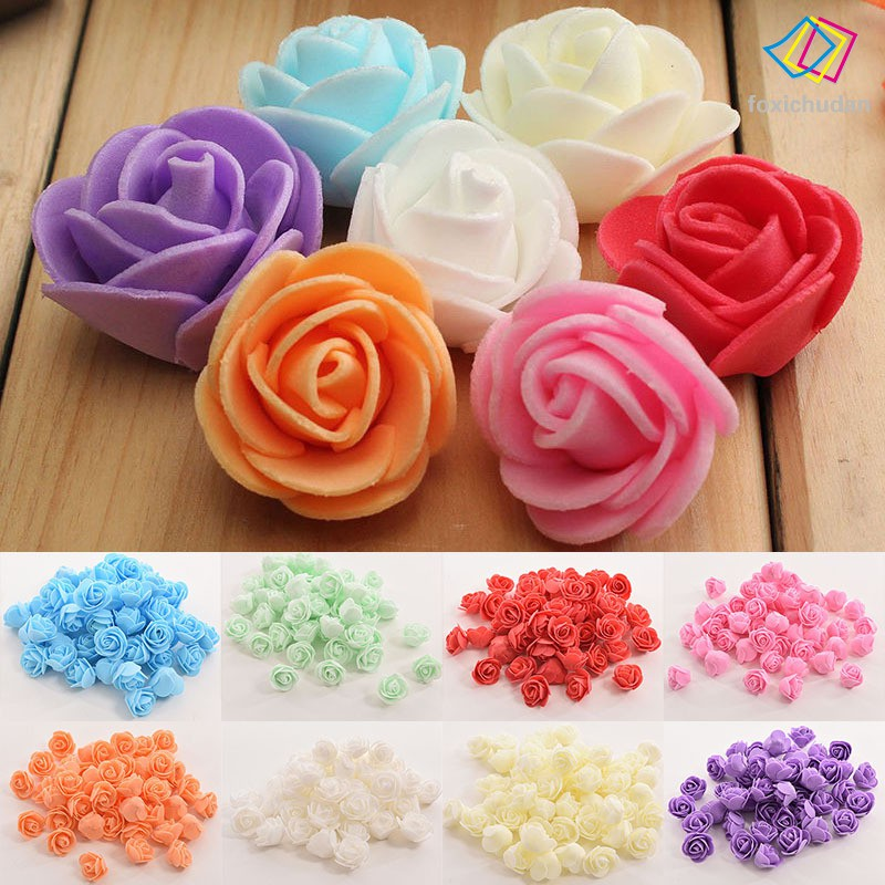 FCD 50 Pcs Simulation Artificial Rose Flowers DIY Bouquets Decoration for Home Wedding Party