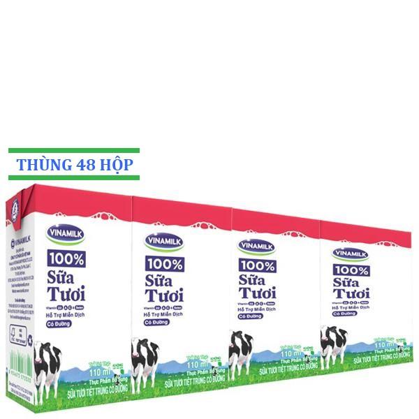 Sữa tươi Vinamilk Dâu 110ml: Thùng 48 hộp