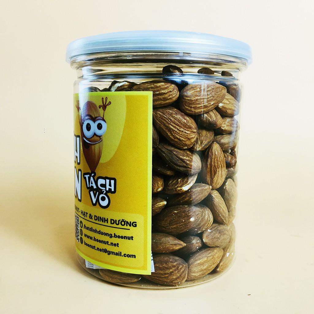 (Hũ 300g) Hạt hạnh nhân tách vỏ Mỹ - Hạnh nhân rang sấy tự nhiên - Có thể làm sữa hạt